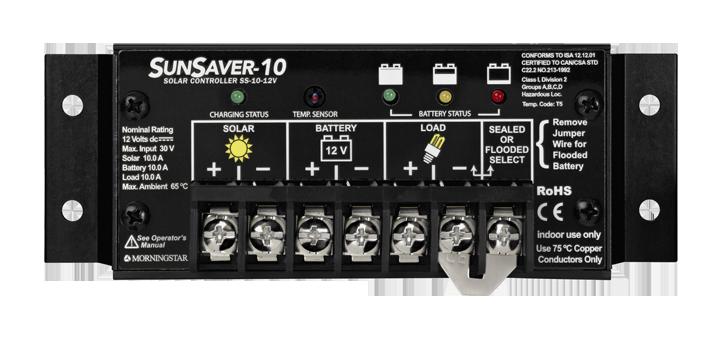 Portable solar Morningstar SS-10-12V charge controller