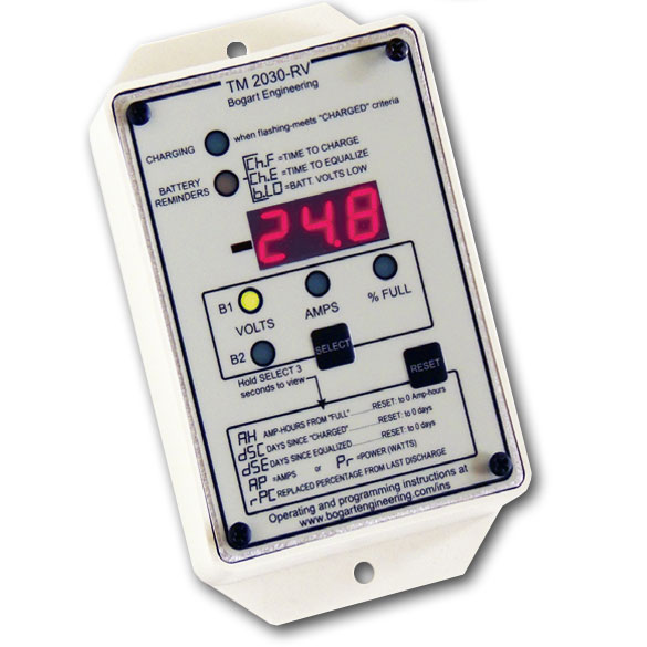 Rv Battery Monitoring Display : Rv solar trimetric system monitor