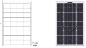 100w portable solar power kit