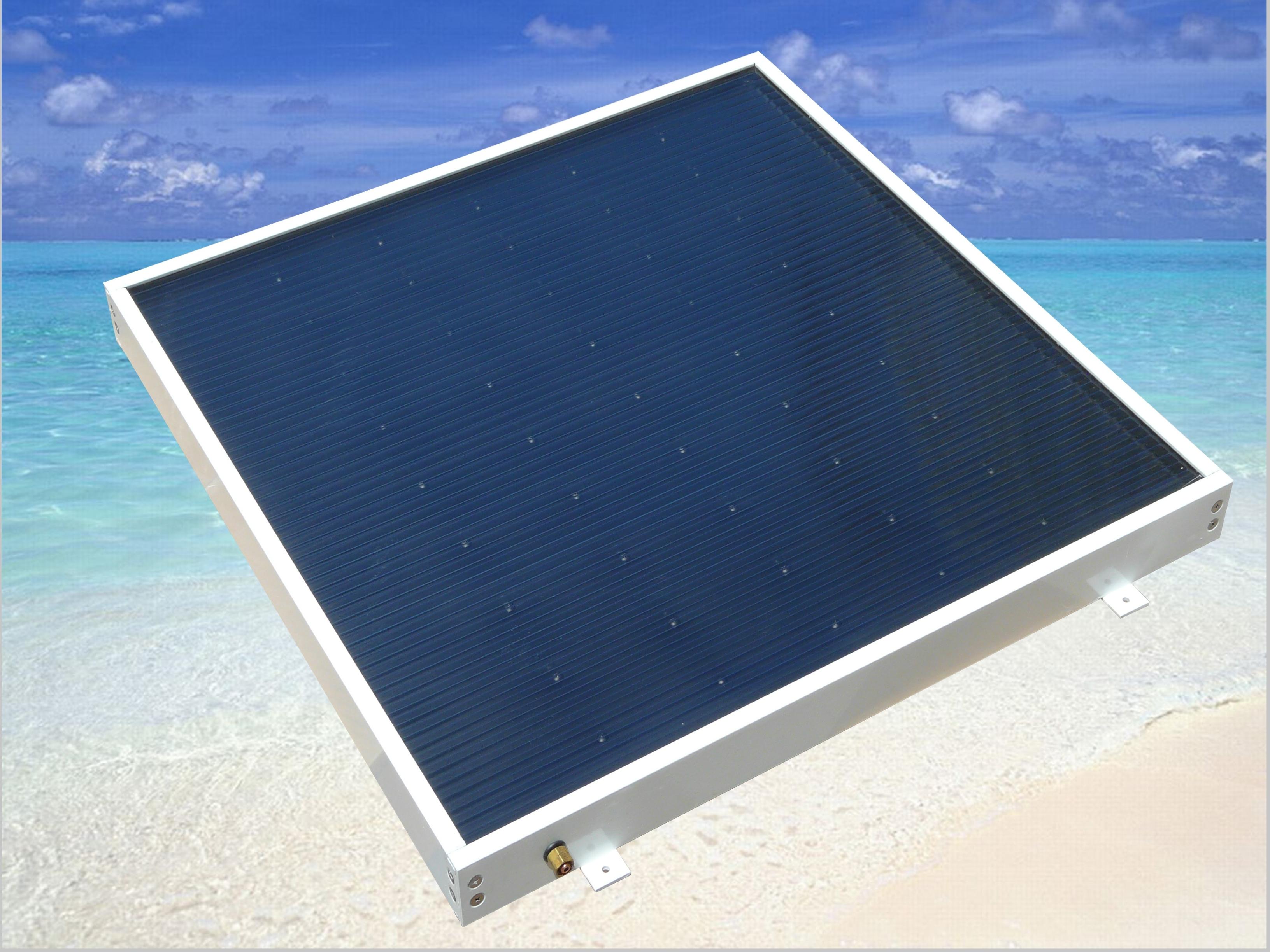 rv and marine 2 panel solar hot water kit