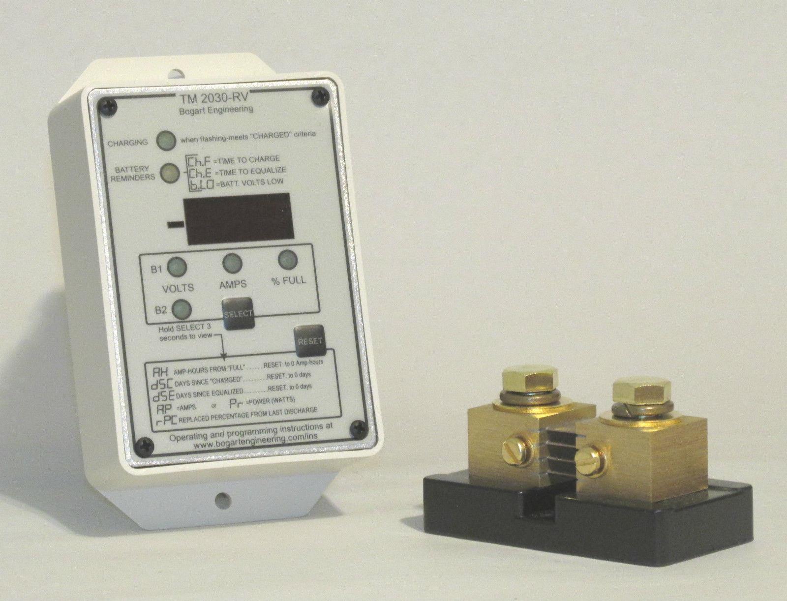 Cable 100AMP Shunt Bogart TriMetric 2030-A Solar Battery Monitor Meter Fuse