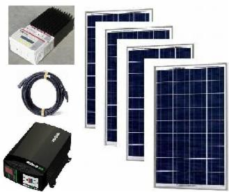 400 Watt Solar Off Grid System Kit