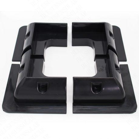 1-Unidades-4-unids-lote-color-Negro-ABS-pl-stico-Soporte-Del-Panel-Solar-Kits-para